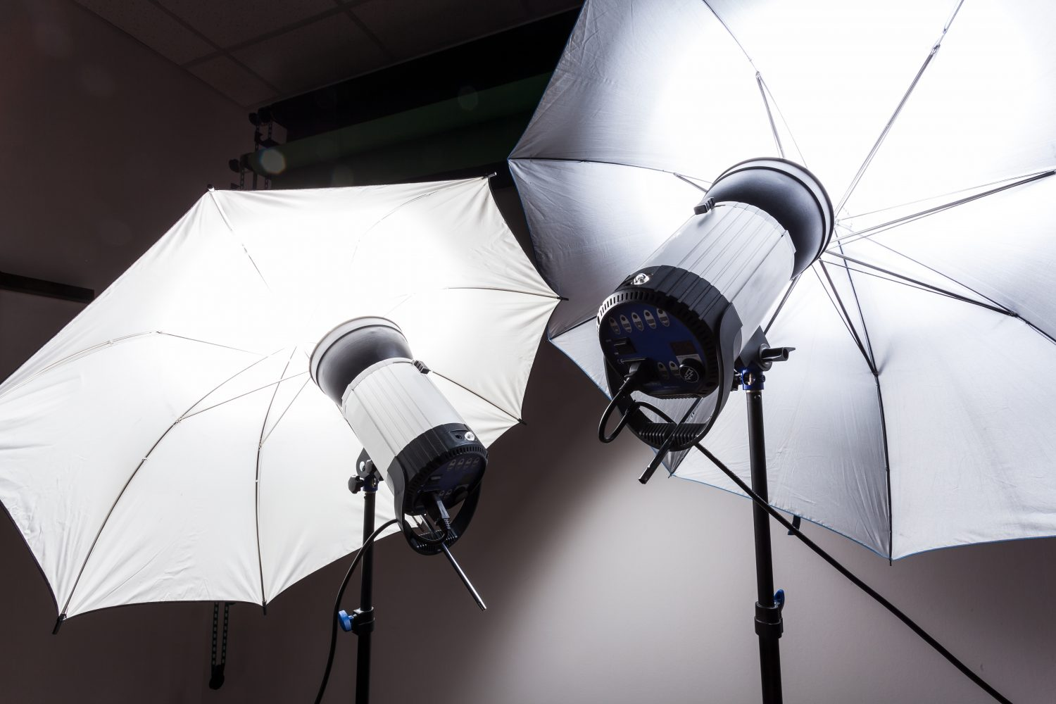 Photography studio flash strobe for light and picture taking